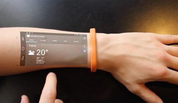 Смарт-браслет Cicret превратит руку пользователя в экран смартфона.